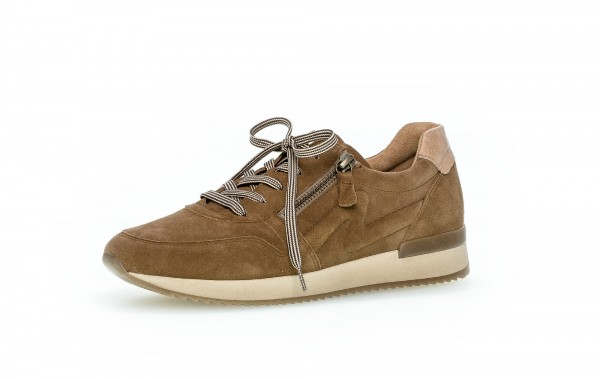 Sneaker low Braun Materialmix Leder - Bild 1
