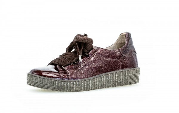 Sneaker low Rot Lackleder - Bild 1