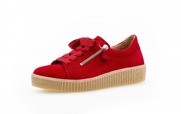 Sneaker low Rot Rauhleder