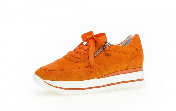 Sneaker low Orange Rauhleder - Bild 1