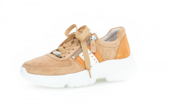 Sneaker low Beige Materialmix Leder - Bild 1